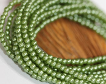 NEW Glass Pearls 2mm - Olive (25034)
