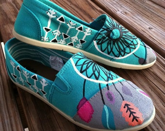 Dream Catcher Hand Painted Shoes