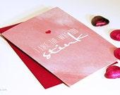 I Like The Way You Stink Valentine's Day Card - Printed Valentine's Day Card - Love Greeting Cards