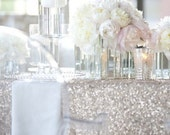 Fabric Swatch Silver Sequin Cloth  Sample TableCloth Wholesale Sequin Table Cloths Sparkly Champagne Table Sequin Linens