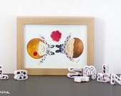 Wedding Illustration! | Happy Newlyweds! | Art Print Watercolour Illustration |  Personalized Illustration