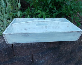 Horse Shoeing Caddy/ Serving Tray- in White at Ancient of Daze