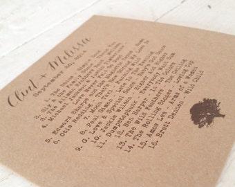 Custom Kraft CD Sleeves - CD Wedding Favors - Kraft Photography Portfolio Dvd / CD Covers - Our Love Story