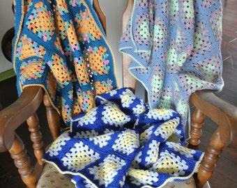 Granny's Little Baby Blanket - granny square blanket
