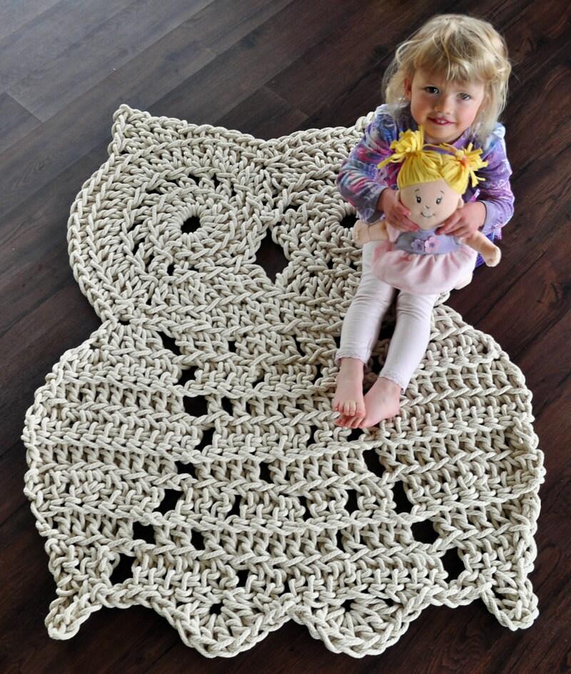 Crochet Owl Rug Pattern: Rope Owl Rug Pattern