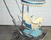 Vintage Turn-A-Tot Rotating Seat Trav-L-Eez Buggie Stroller w Sun Parasol #1230