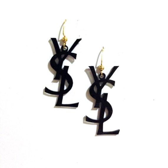 ysl monogram earrings