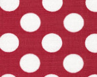 Red and White Dot Fabric Finders Cotton Fabric
