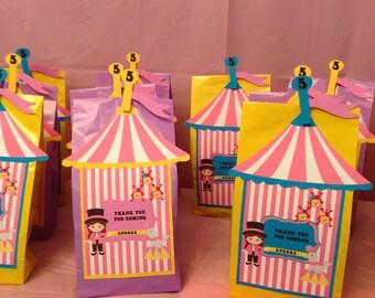 Girly Circus Theme Goddie Bags