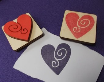 Stamp, Heart, 5 cm x 5 cm (S04-0001A)