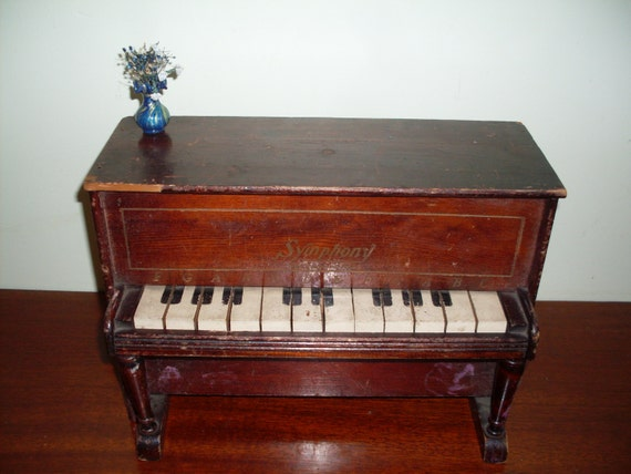 Vintage Symphony Toy Wooden Piano Child S Room By
