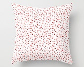 Christmas Red & White Polka Dots Pillow Cover, Polkadot Pattern Throw Pillowcase