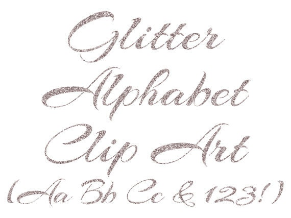 silver alphabet clipart silver glitter letters numbers