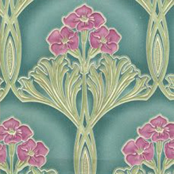 Art Nouveau decorative Ceramic tile