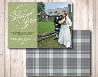 Printable Celtic/ Irish Romance Wedding Thank You