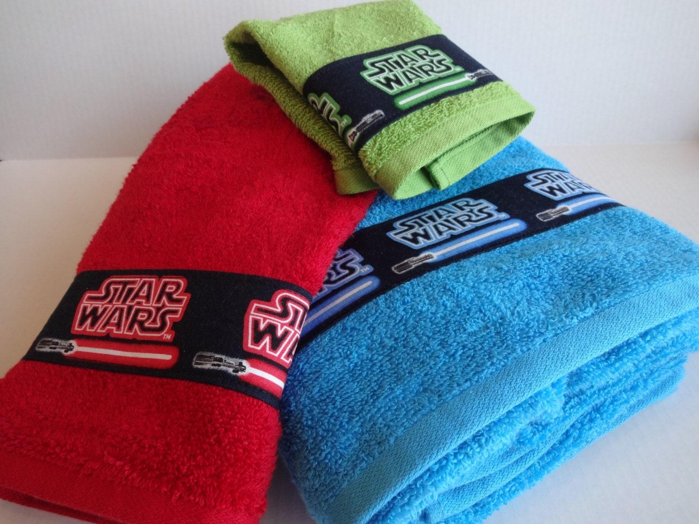 Set Of 3 Star Wars Bath Towels Star Wars Bathroom By Augustave