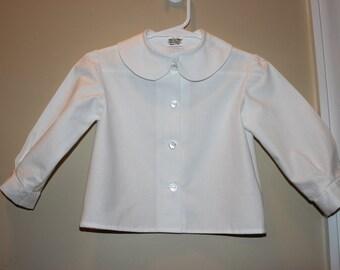 Boys Long Sleeve Peter Pan Collar Shirt