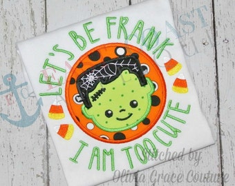 FRANKLY CUTE PATCH machine embroidery design
