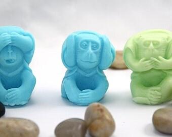 """Soap """"Three wise monkeys"""""""