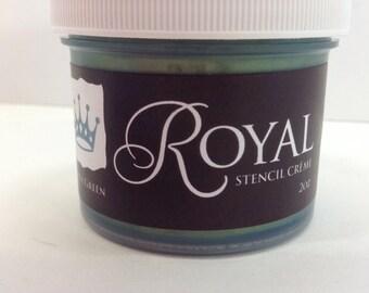 Royal Stencil Creme Patina Green