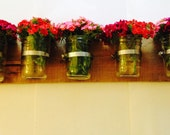 Mason Jar Vertical Garden - 5 Piece Holder