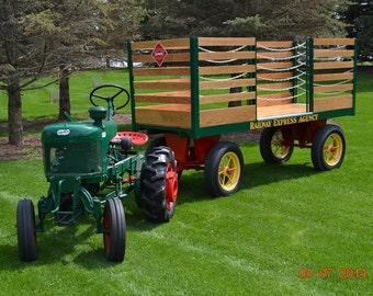 Antique Railroad Baggage Cart Railway Express Wagon Fully Restored 1939 Industrial Wagon