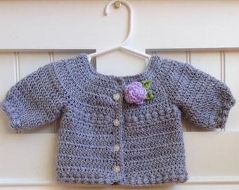 Handmade crochet sweater/ crochet sweater/ baby sweater/ girl sweater