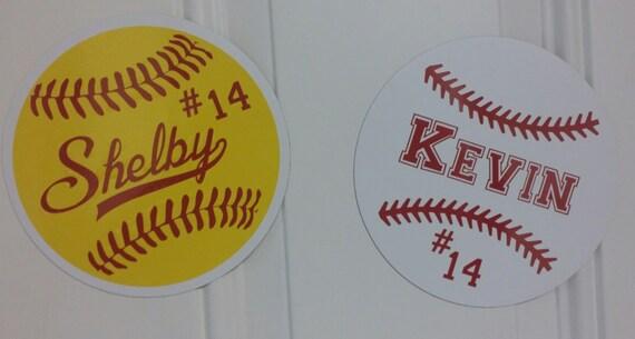 Custom Softball Or Baseball Car Magnets Other Sports Available - Custom car magnets for sports