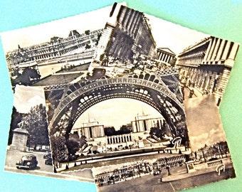5 Vintage Paris  Post Cards,