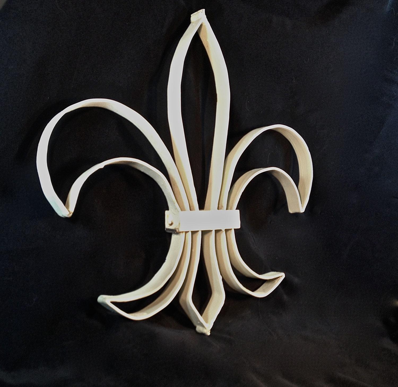 Fleur De Lis Wrought Iron Decor By Gentryantiques On Etsy