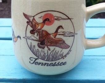 Vintage Tennessee Glazed Porcelain Mug - Canadian Geese