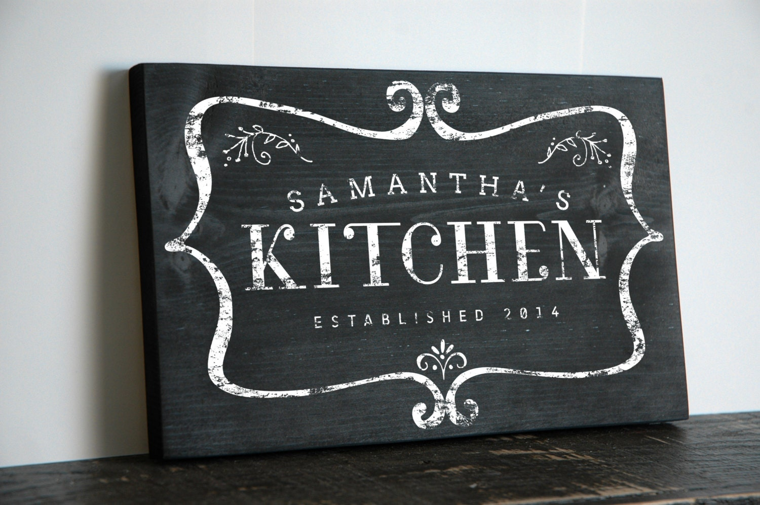 Custom chalkboard style kitchen sign kitchen by jetmakdesigns - Custom signs for home decor concept ...