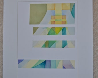 Telephone Pole,  Watercolor mixed media by Krista S. Givens, 2014