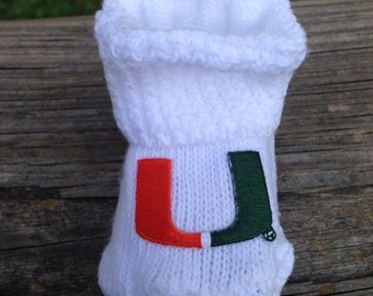 University of Miami hurricanes baby booties