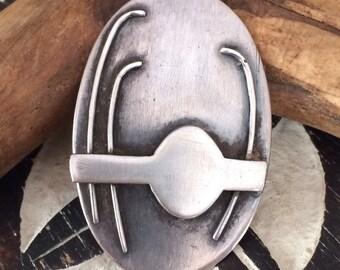 A sublime tribal modernist sterling pendant