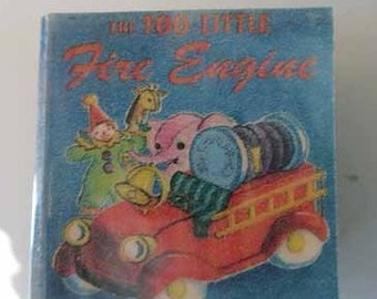 Children's Book The Too Little Fire Engine - dollhouse miniature 1:12 scale