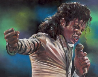 """Michael Jackson, painting, poster, print, reproduction, print, drawing by artist, 16""""x20"""",22.4""""x28"""""""