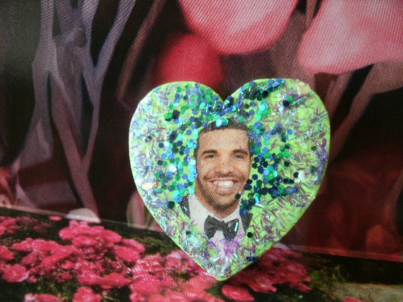 Drake Sparkle Heart Pin