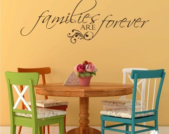 families are forever wall decal quote vinyl text stickers art custom home decor