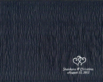 """50 Personalized printed 24# Paper place mats wedding 10"""" x 14"""" Graduation shower"""