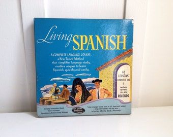 Language Records, Living Spanish 4 Record Language Course