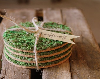 Mossy Coasters 4ct.