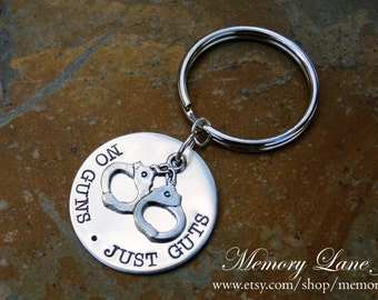 Correctional Officer/Corrections Officer/Prison Guard/Prison Officer/Detention Officer Key Chain - No Guns Just Guts