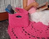 Crochet Storage Baskets - Square Storage Basket - Nursery Decor - Toy Storage - Toddler Storage- Organizer Basket - Baby Shower Gifts