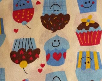Cupcake Fitted Crib Sheet -Baby Crib Sheet -Toddler Bed Sheet -Ready to Ship