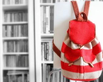 Vintage Backpack crochet pdf pattern INSTANT DOWNLOAD