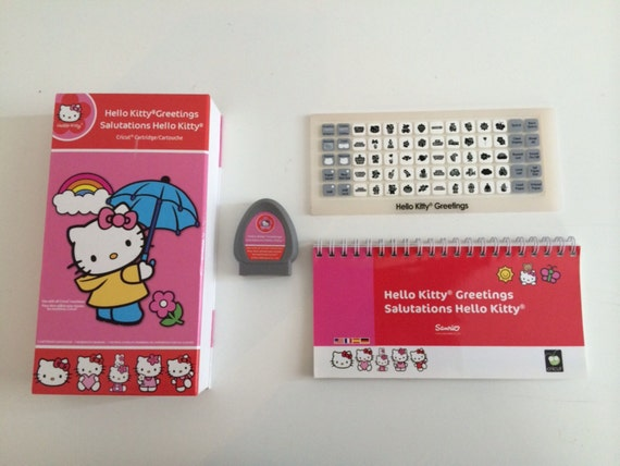 Hello kitty cricut cartridge hello kitty greeting cricut cartridge preowned m4hsunfo
