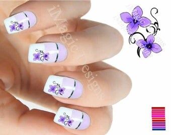 Water Slide Nail Decals, Floral Stickers, Nail Transfers, Flowers