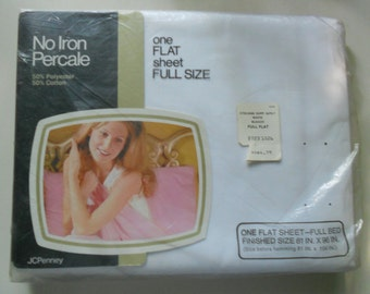 JC Penny Percale Sheet Full Size
