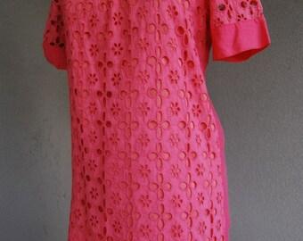 1960s pink dress